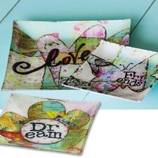 "Spring Inspirations 10.5"" Square Platter (Set of 3)"
