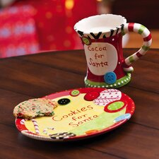 <strong>Cypress Home</strong> Dear Santa Cookies and Cocoa Gift Set