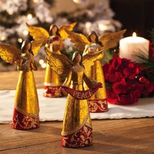 Holiday Elegance Angels Polystone Table Display (Set of 4)