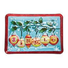 "Believe In Snow Angels 14.1"" Rectangular Platter"