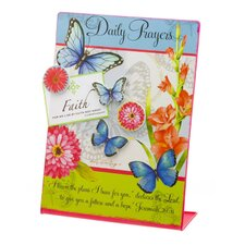 Butterfly Blessings Metal Memo Board with Magnet Set