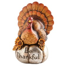 Turkey Fixings Be Thankful Turkey Polystone Table Decor
