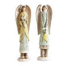 <strong>Cypress Home</strong> Paperstone Angel Table Decor (Set of 2)