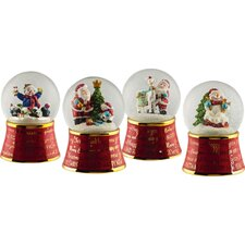 <strong>Cypress Home</strong> Christmas Musical and Movement Waterglobe (Set of 4)