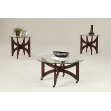 Midtown Circle 3 Piece Coffee Table Set