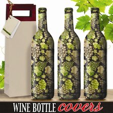 Gourmet Grapes Wine Bottle Cover (Set of 3)