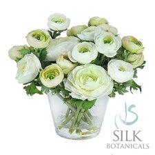 "10"" Ranunculus in Glass Vase"