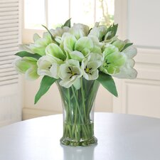 <strong>Jane Seymour Botanicals</strong> Tulips in Glass Vase