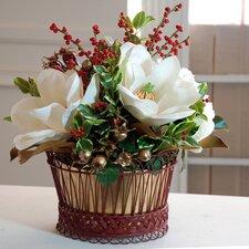 Holiday Classic Magnolia Basket