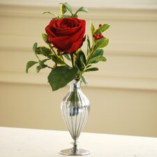 <strong>Jane Seymour Botanicals</strong> Single Rose Holiday Vase
