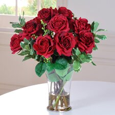 <strong>Jane Seymour Botanicals</strong> Roses in Glass Vase