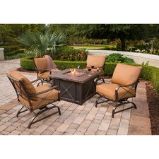 Summer Night 5 Piece Rocker Seating Group with Cushions