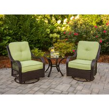 <strong>Hanover Outdoor</strong> Orleans 3 Piece Deep Seating Group with Cushions