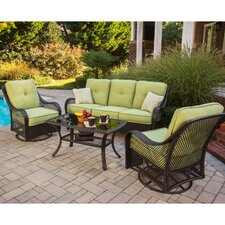 <strong>Hanover Outdoor</strong> Orleans 4 Piece Deep Seating Group with Cushions