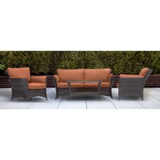 Strathmere Allure 4 Piece Lounge Seating Group with Cushions