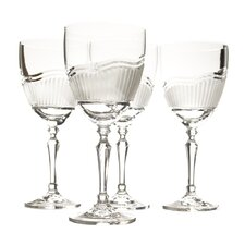 Morning Frost Red Wine Crystal Glass (Set of 4)