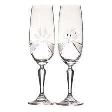 Madame Royale Crystal Glass Toasting Flute (Set of 2)