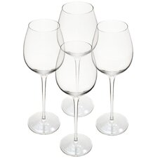 Handmade Classical Long Stem Red Wine Glasses (Set of 4)