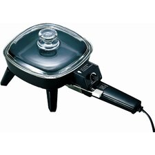 Electric Skillet with Glass Lid