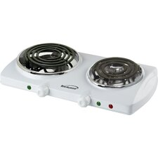 <strong>Brentwood Appliances</strong> Electric Double Burner