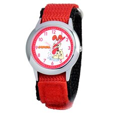 Kid's Time Teacher Velcro Strap Watch