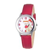 Tween Time Teacher Leather Strap Watch