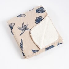 Key Largo Nautical Design Throw with Sherpa