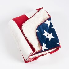 Old Glory US Flag Design Sherpa Throw