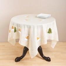 Embroidered Holiday Table Topper