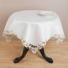 <strong>Saro</strong> Embroidered and Cutwork Table Topper