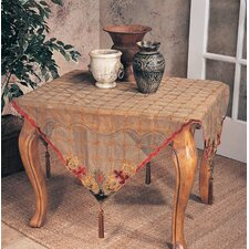 <strong>Saro</strong> Embroidered Velvet Table Topper