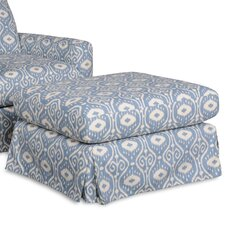 Lily Ottoman Skirted Slipcovered