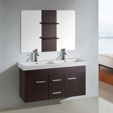 "47"" Floating Wall Mount Bathroom Vanity Set"
