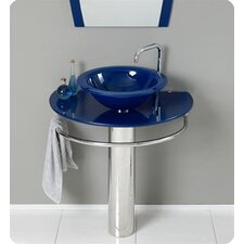 <strong>Kokols</strong> Vessel Sink Pedestal Bathroom Vanity Set