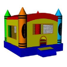 DuraLite Crayon Party Bounce House