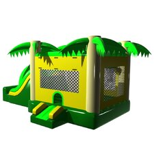 Tropical Mega Wet/Dry Commercial Grade Inflatable Bouncy House and Slide Combo