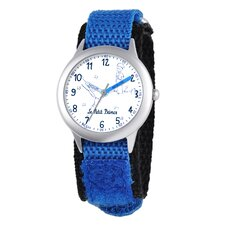 Kid's Time Teacher Analog Velcro Strap Watch