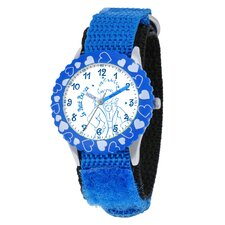 Kid's Time Teacher Hearts Bezel Watch