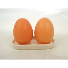 Hand Painted Egg Salt And Pepper Shaker Set