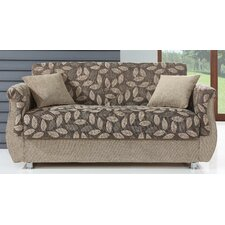 Chestnut Convertible Loveseat