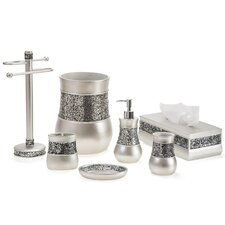 Brushed Nickel 5 Piece Bathroom Accessory Set