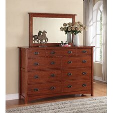 <strong>Michael Ashton Design</strong> Mission 9 Drawer Dresser