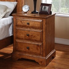 Essex Pine 3 Drawer Nightstand