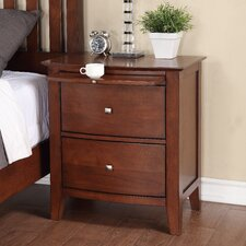 <strong>Michael Ashton Design</strong> Midtown 2 Drawer Nightstand