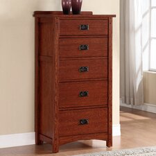 Mission 5 Drawer Lingerie Chest