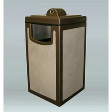 Pahokee Trash/Ash Receptacle with Hide-A-Butt