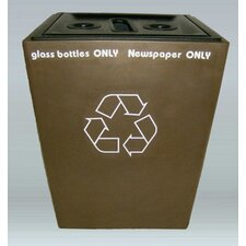 St. Louis 3 Stream Multi Compartment Recycling Bin