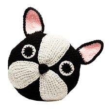 Crochet Boston Terrier / Frenchie Throw Pillow