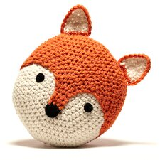 <strong>Peanut Butter Dynamite</strong> Crochet Acrylic Fox Pillow