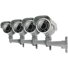 4 Ultra Resolution Outdoor Night Vision Security Cameras